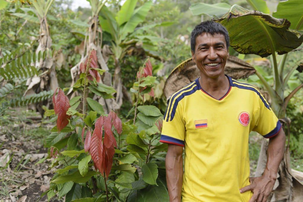 Producteur travaillant avec Cacao Hunters en Colombie